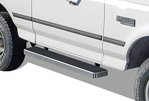- APS iBoard (Silver 6 inches) Running Boards | Nerf Bars | Side Steps | Step Rails for 1980-1996 Ford F-Series/Bronco Regular Cab Pickup 2Dr
