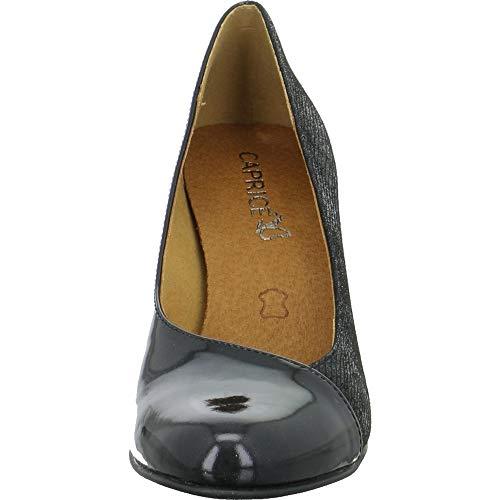 Donna Tacco 22400 Nero Scarpe con Caprice qwPOtITqx