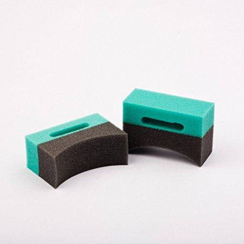 Shiny Garage Applikator f/ür Reifenpflege Bi-Color shaped sponge applikator