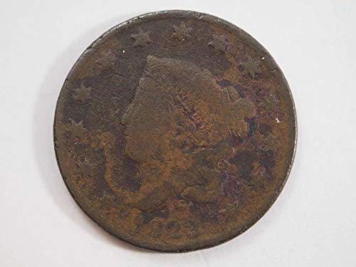1823 P Coronet Large Cent Large Cents Ungraded