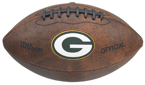 NFL Green Bay Packers Color Logo Football , 9-Inches]()