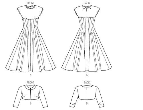 Patrones de Costura para Vestidos y Toreras Vogue Patterns V8999 A5 Tallas 6-14
