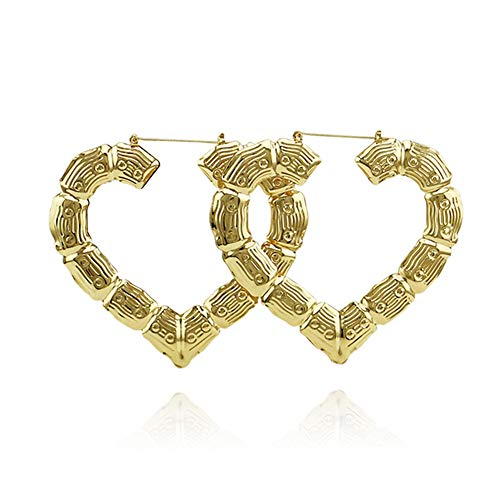 Hollow Love Heart Hoop Earring Unique Exaggerated Jewelry Dangle Earring Love Heart Circle Rectangle for Women Girls ()