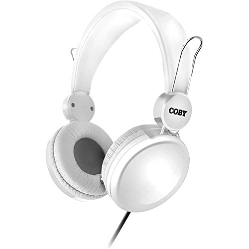 COBY CV-H802WH Bass Boost Stereo Headpones CVH802 White