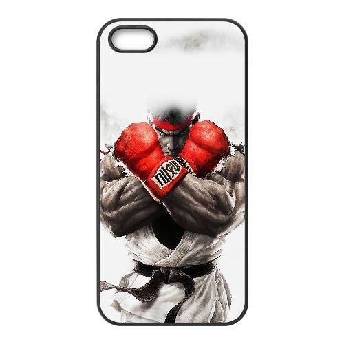 I1S80 rue ah combattant ryu jeu art illust U8B5NP coque iPhone 4 4s cellulaire cas de téléphone couvercle coque noire SF5WDN2YV