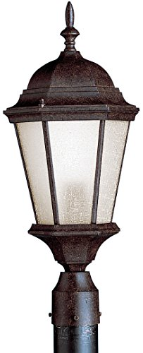 (Kichler 10956TZ Madison Outdoor Post Mount 1-Light FL, Tannery)