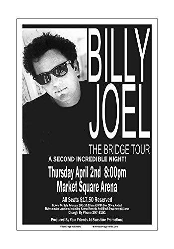 (Raw Sugar Art Studio Billy Joel 1987 Indianapolis Concert Poster)
