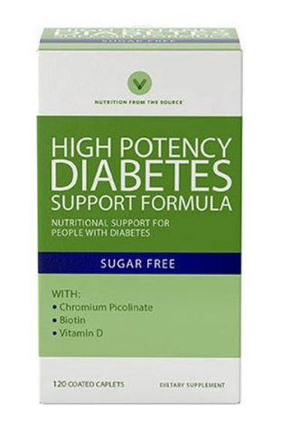 Vitamin World High Potency Diabetic Nutritional Support Formula For People With Diabetes 120 coated caplets