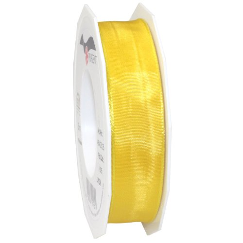 Morex Ribbon French Wired Lyon Ribbon, 1-Inch by 27-Yard Spool, Yellow