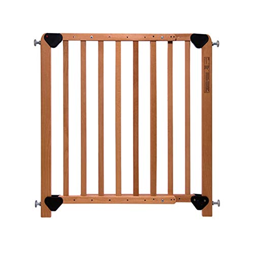 Extra Wide Safety Baby Gate for Doorways and Stair, Wood Pet Gate with Dog Door, Fits Space 80-126cm, No Safety Hazard