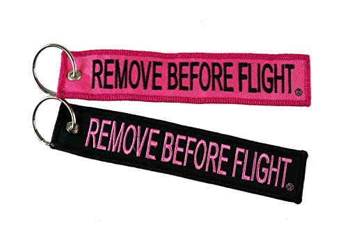 Remove Before Flight Motorcycle Keychain