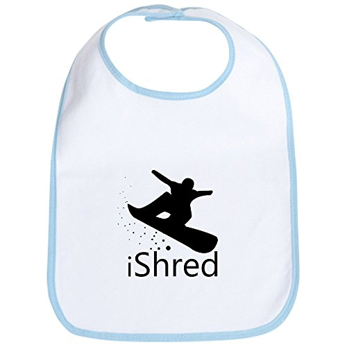 CafePress - Snow board Bib - Cute Cloth Baby Bib, Toddler Bib