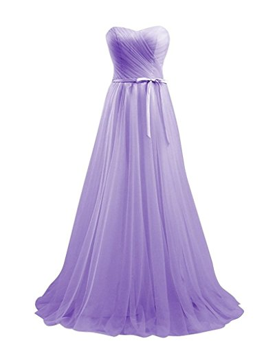 Prom Dresses Aurora Bridesmaid Bridal Party Dresses Tulle Women's Lavender Long xxwBqRIX