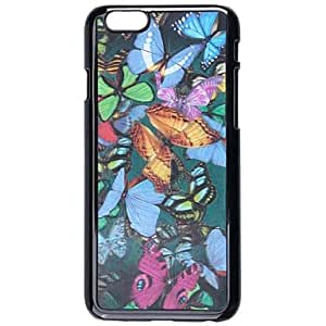 PEACH Fashionable 3D Colorful Butterflies Pattern Protective Plastic Hard Case for iPhone 6