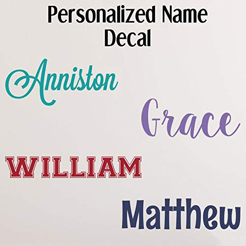 CELYCASY Name Wall Decal - Nursery Name Decal - Toy Box Decal - Name Decal for Nursery - Name Stickers - Custom Name Decal - Baby Name Decals