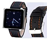 Wrist Jockey Carbon - Black Carbon Fiber / Red Stitch (iPod nano watch band)