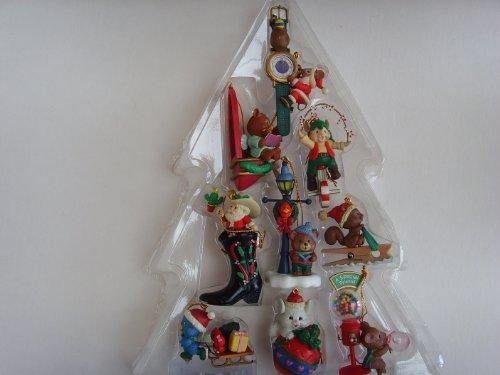 Cowboy Boot Santa, Juggling Candy Canes, Bubble Gum ; Set of 9 Christmas Ornaments ()
