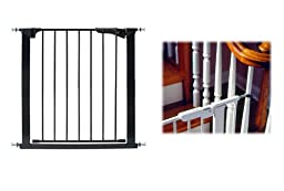 KidCo Center Gateway with Y Spindles, Black