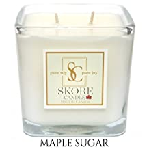 Maple Sugar Scented Soy Candle - 14 oz. Made with pure, natural soy wax. Best for eliminating odors in your kitchen. Invite our fragrant scents into your living and dining room.