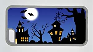 Halloween Art For Kids Iphone 5C Rubber Shell with Transparent Edges Cover Case by Lilyshouse