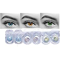 Optify Monthly Contact Lens (0, Blue, Honey & Green, Pack of 6)