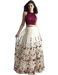 skyview Fashion Women's Party Wear Soft Net Anarkali Circular Lehenga Choli