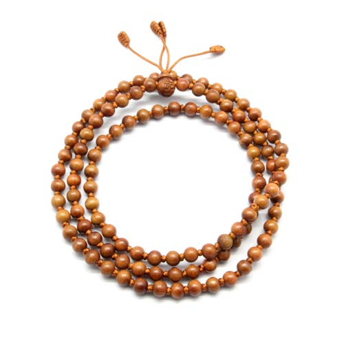 - [Western Sages] 108 Mala Beads, Authentic Korean Handmade Jujube Wooden Beads (6mm)