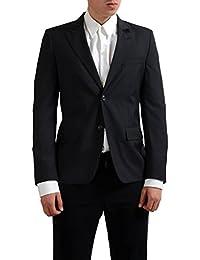 100% Wool Gray Two Button Men's Blazer