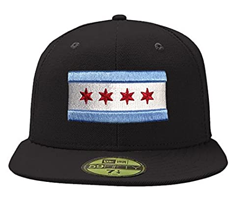 b565ea2e39667e Image Unavailable. Image not available for. Color: City of Chicago Black  59Fifty Flag Hat by New Era