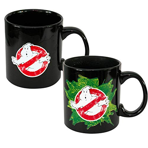 Just Funky JF19313 Ghostbusters Movie Color Changing Coffee Mug 20 Ounces Black