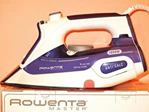 Rowenta DW9055 1600W Anit Calc Stainless Steal Master Steam Iron
