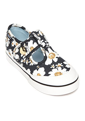 Vans Leena Daisy Black/Blue Toddler Girls Shoes 8.5
