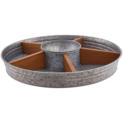 (Better Homes & Gardens Turntable with Dip Bowl, Galvanized & Wood + Free)