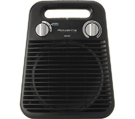 Rowenta Sprinto Silence - Termoventilador vertical, 2000 W, 2 posiciones, 47 dBA, termostato, protección antiheladas, asa transporte, color negro: ...