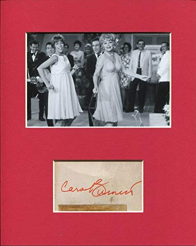 Carol Burnett Famous Comedian Signed Autograph Photo Display With Lucille - Ball Autographs Lucille