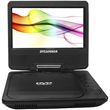 Sylvania Portable DVD Player SDVD7027-C, 7-Inch, Swivel Screen, Black