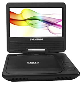Sylvania SDVD7027-C, 7-Inch Portable DVD Player with Car Bag/Kit, Swivel Screen, USB/SD Card Reader (Black)