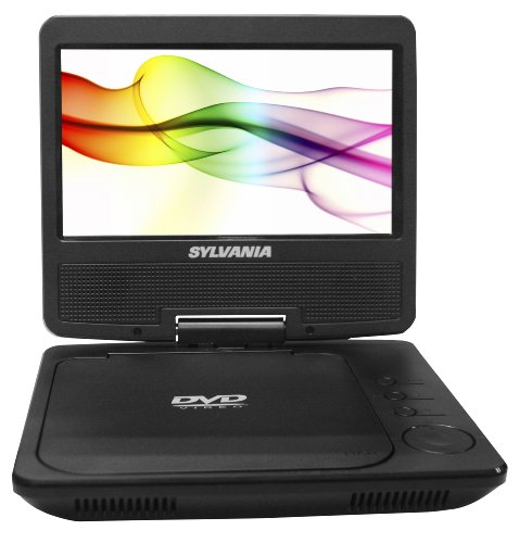 (Sylvania Portable DVD Player SDVD7027-C, 7-Inch, Swivel Screen, Black)