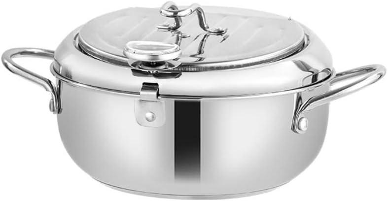 Deep Frying Pot | Stainless Steel Deep Fryer| Stainless Deep Fryer Pot with Basket | Tempura Deep Fryer Pot | Stainless Deep Frying Pan