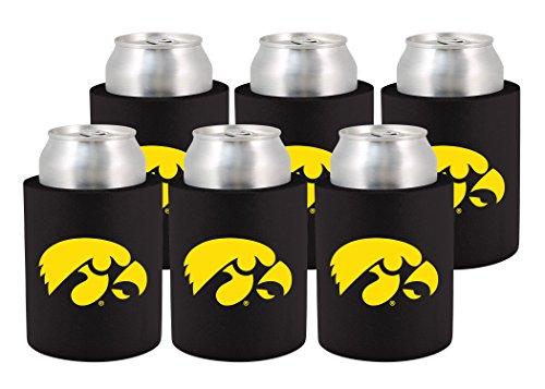NCAA Iowa Hawkeyes Phoozie Set, 6-Pack, (Iowa Hawkeyes Ncaa Beverage)