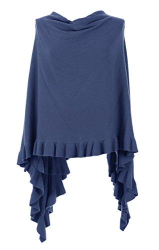 TEXTUREONLINE - Poncho - capa - para mujer Azul Aciano