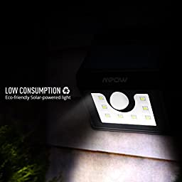 Mpow LED Solar light, Bright Security Lighting Outdoor Motion Sensor Lighting for Garden, Patio