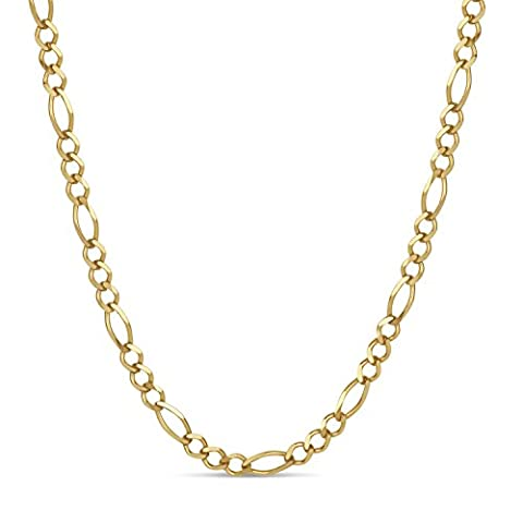 18k Gold Over Sterling Silver Figaro Chain Necklace 24