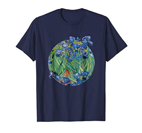 Vincent Van Gogh Irises Fine Art Painting T-Shirt