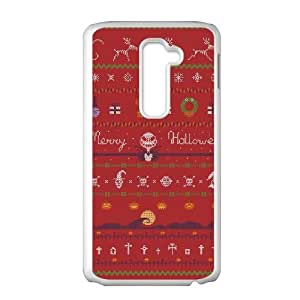 LG G2 Cell Phone Case White UGLY HALLOWEEN SWEATER JNR2280219