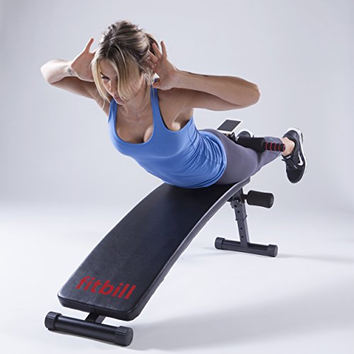 fitbill Sit Up Decline Bench with Free Workout App