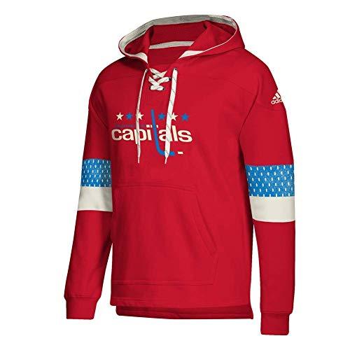 adidas Washington Capitals Hoodie Pullover Vintage Jersey Hood (X-Large)
