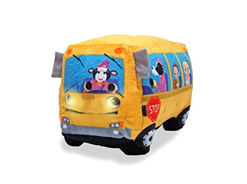 - Cuddle Barn Animated Toy Wheelie Singing School Bus - Sings Wheels on The Bus