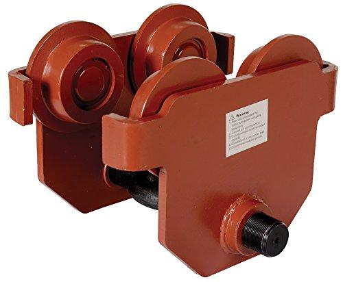 Vestil E-MT-6 Steel Low Profile Eye Manual Push Trolley, 6000 lbs Capacity, 3''- 8-5/8'' I-Beam Flange, 3-3/8'' Headroom by Vestil (Image #5)