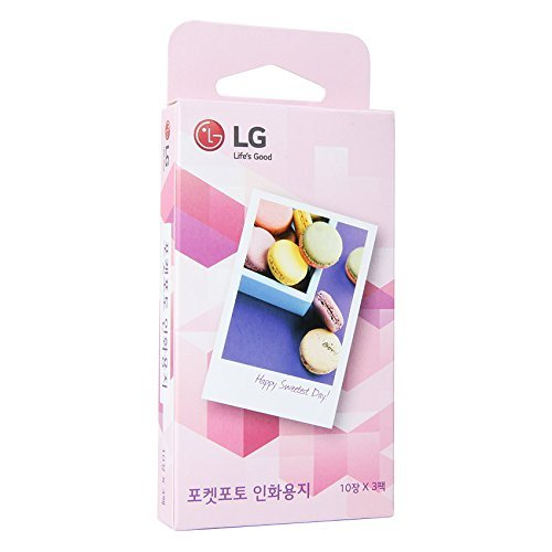LG Electronics Pocket Photo Paper for Pocket Photo Printer, 30 Sheets, 2x3'' by Zink Photo paper